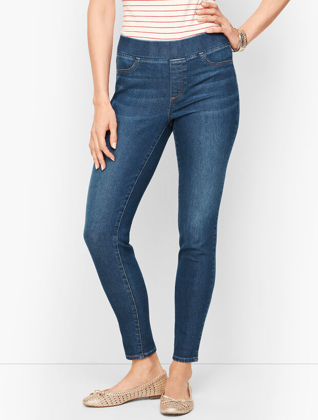 Sculpt Pull-On Jeggings - Maya Blue Wash