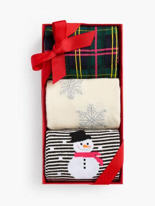 Snowman 3-Pack Socks