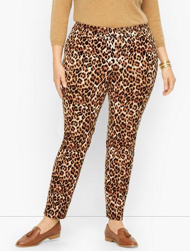 Plus Size Exclusive Talbots Chatham Ankle Pants - Fun Leopard