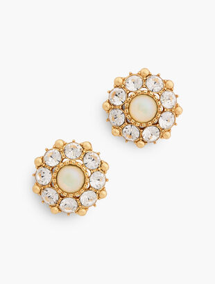 Opal Statement Stud Earrings