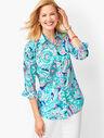 Classic Cotton Shirt - Layered Paisley