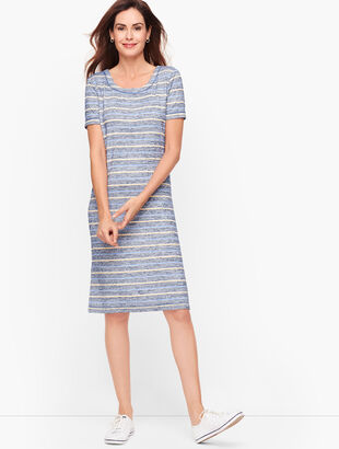 Heathered Stripe Twist Back Dress