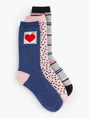 Valentine's Day Socks-3-Pack