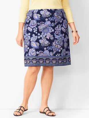 Paisley Canvas A-Line Skirt