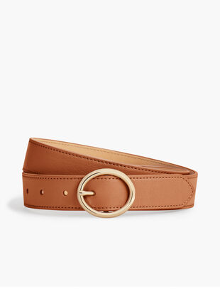 Plus Size Soft Pebble Leather Belt