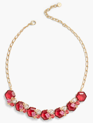 Pink Clusters Necklace