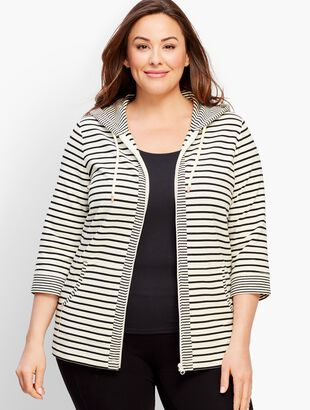Bloom Stripe French Terry Hoodie
