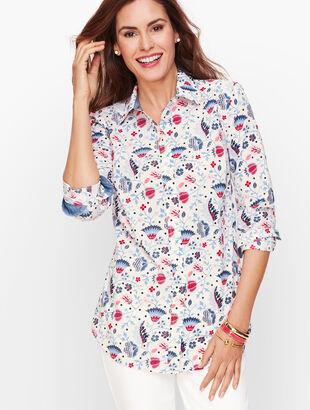 Classic Cotton Shirt - Climbing Floral