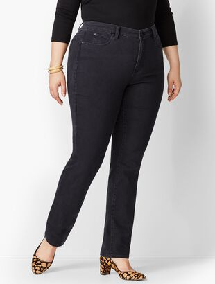 Plus Size High-Waist Straight-Leg Jeans - Galaxy Wash