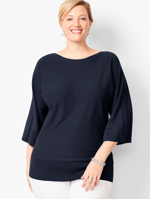 Dolman-Sleeve Sweater - Solid