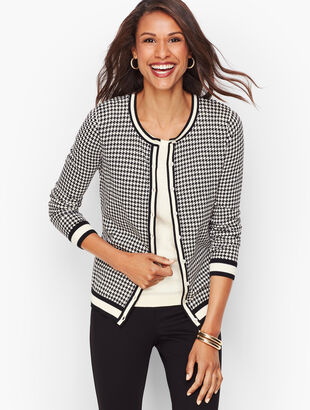 Charming Cardigan - Houndstooth