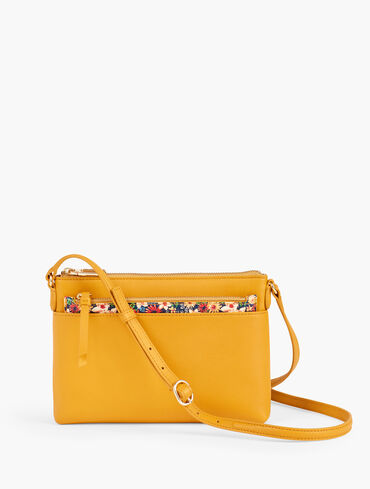 Crossbody Bag With Insert - Cute Floral