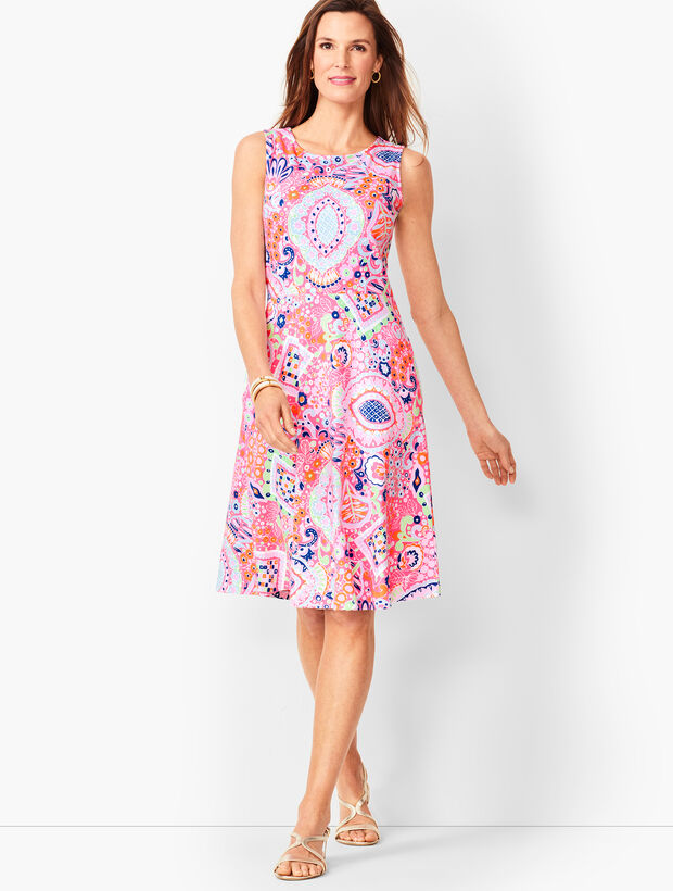 Edie Fit Amp Flare Dress Paisley Talbots