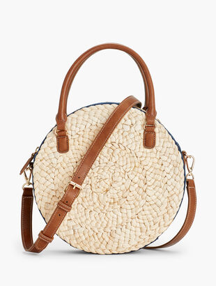 Round Corn Husk Bag