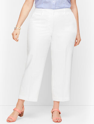 Linen Straight Leg - Curvy Fit - Lined