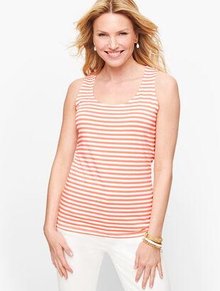 Cotton Blend Tank - Stripe