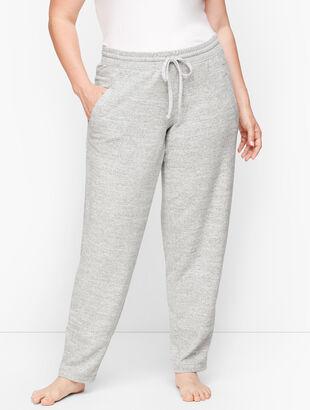 Brushed Melange Slim-Leg Pants