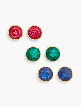 Colorful Crystal Earring Set
