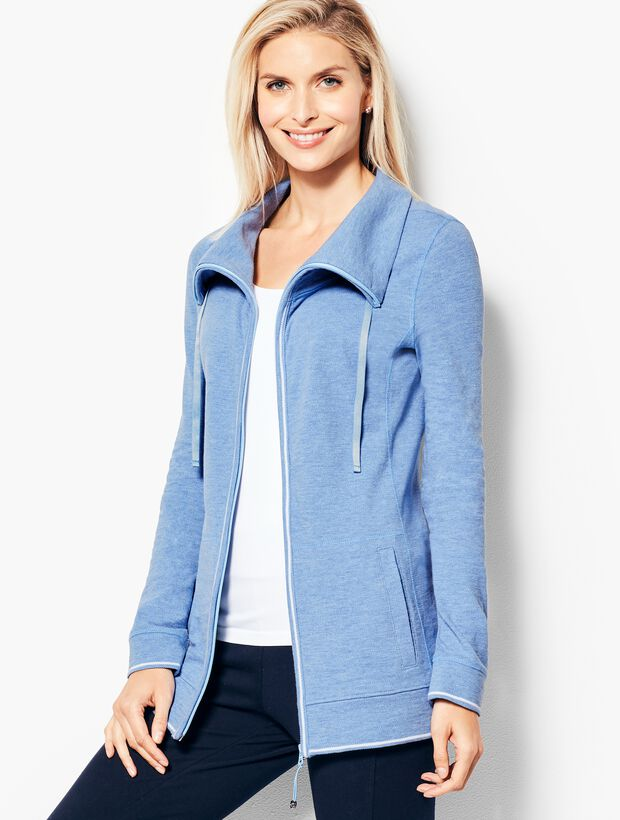 Cotton Piqué Jacket - Heathered