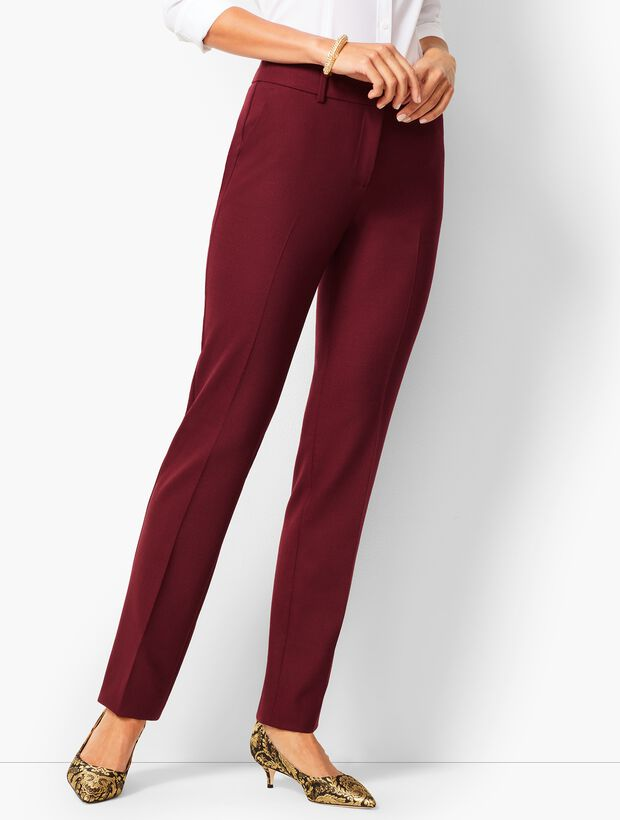 High-Waist Straight-Leg Pant