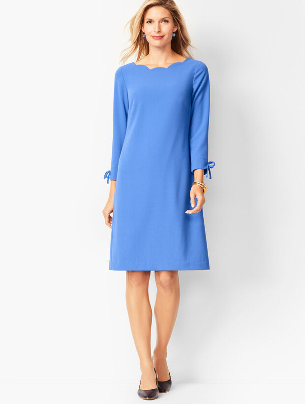 Crepe Shift Dress - Solid
