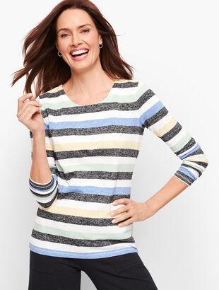 Stripe Cutout Back Top - Multicolor