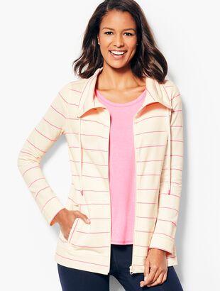 Cotton Piqué Jacket - Stripe