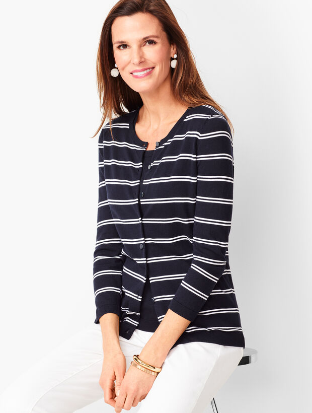 Charming Cardigan - Double Stripe
