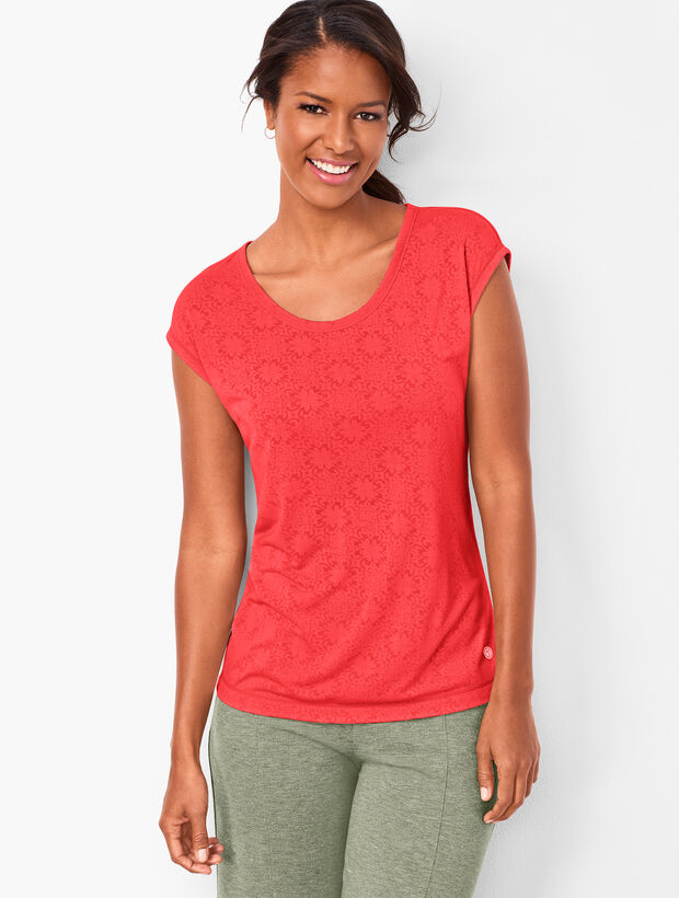 Cutout-Back Tee - Burnout