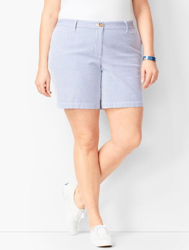 Girlfriend Chino Shorts - Stripe