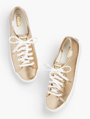 Keds® Kickstart Sneakers - Quilted Metallic