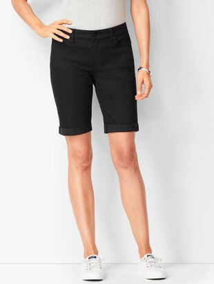 Girlfriend Jean Shorts - Black Onyx Stretch