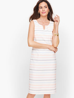 Biscay Sheath Dress - Stripe