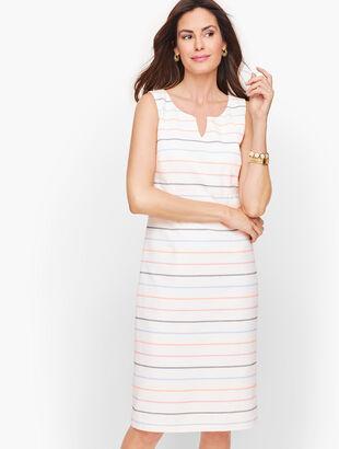 Biscay Sheath Dress - Stripe
