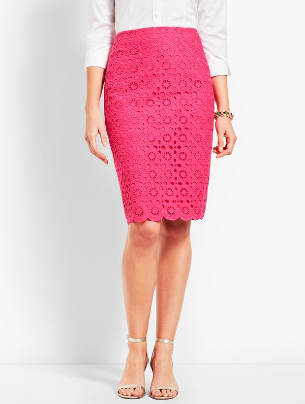Scallop Pencil Skirt