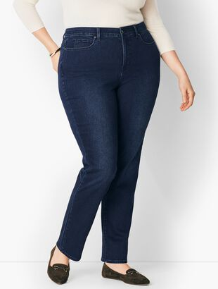 Plus Size Comfort Stretch High-Waist Straight-Leg Jeans - Curvy Fit/Marco Wash