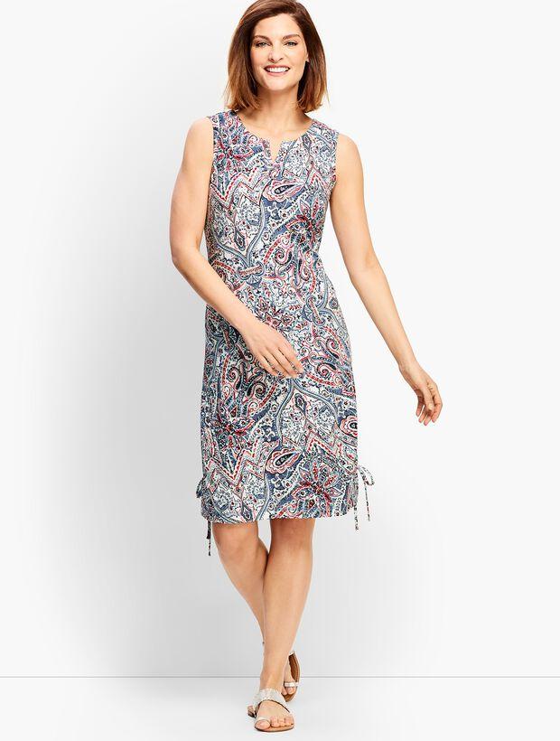 Scrolling Paisley Slub Dress