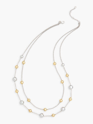Silver & Gold Double Strand Necklace