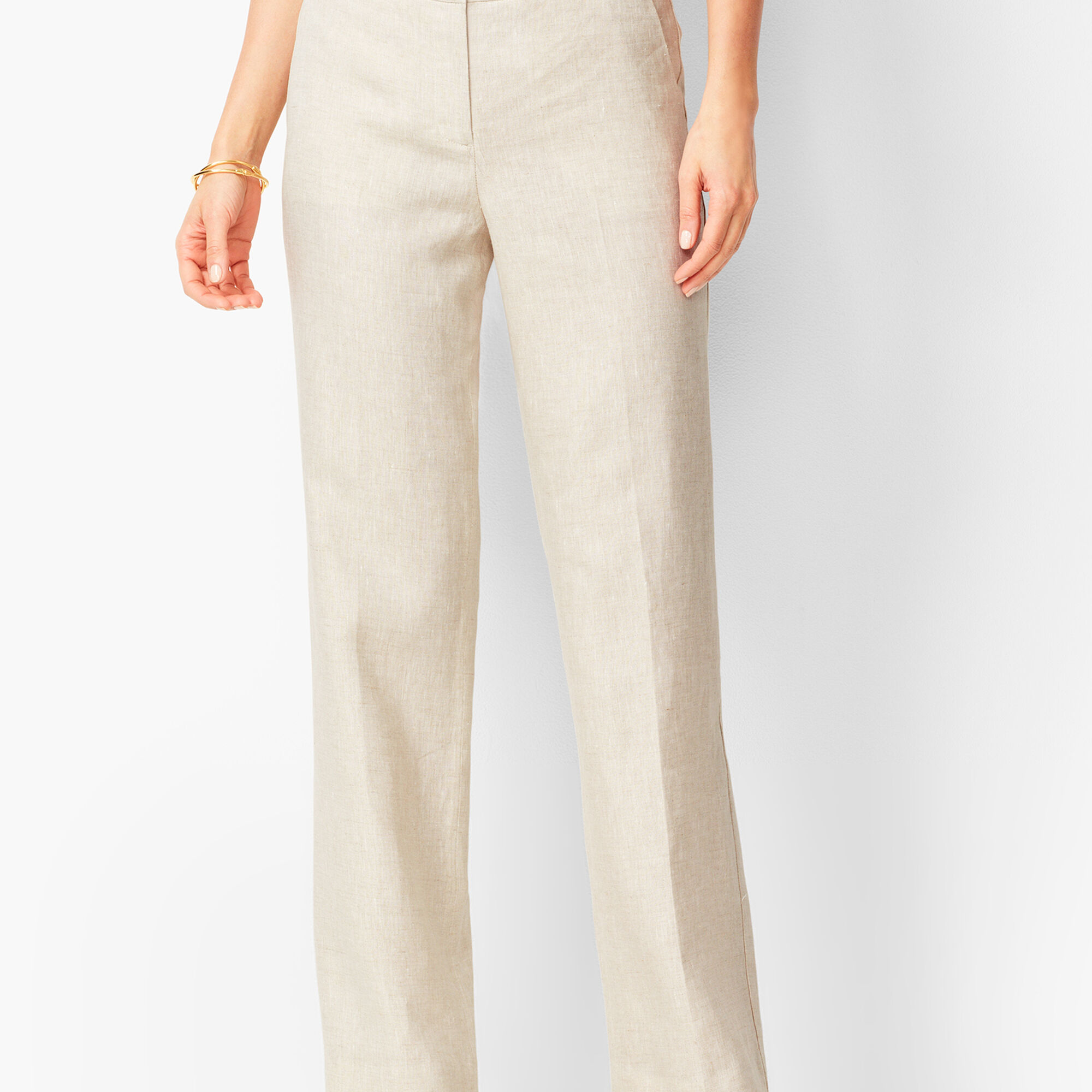 how to find wide selection new release Talbots Windsor Wide-Leg Linen Pants