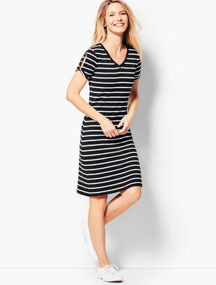Drapey Knit Stripe Dress