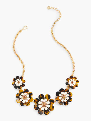 Layered Tortoise Flower Necklace