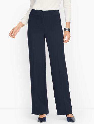 Stretch Crepe Wide Leg Pants