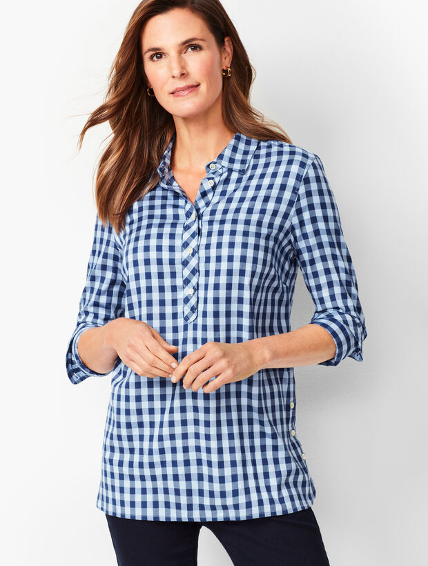 Gingham Popover Tunic