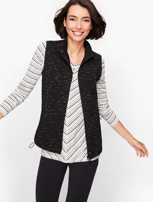 Jacquard Fleece Lined Vest