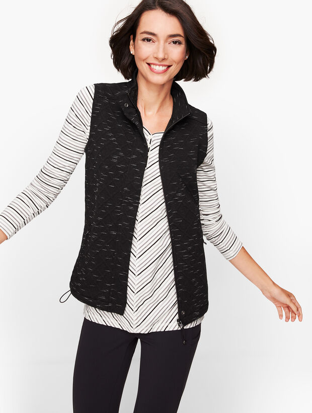 Jacquard Fleece Lined Vest
