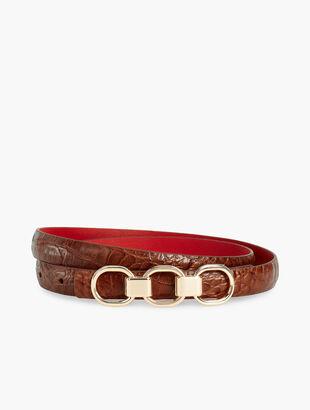 Reversible Croc-Embossed Belt