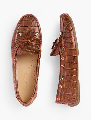 Taylor Laced Driving Moccasins - Embossed
