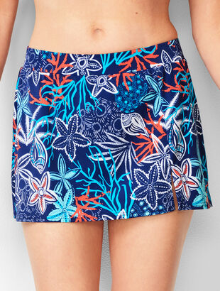 Vented Swim Skirt - Aquatic Life