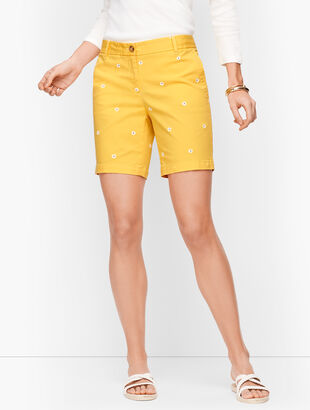 "Relaxed Chino Shorts - 7"" - Daisy Print"
