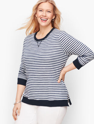 Side Zip Stripe Pullover